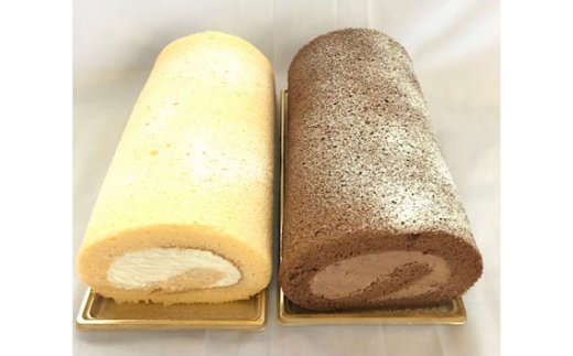 No.200 米粉ロールケーキ 2本セット / スイーツ 冷凍 群馬県 特産品