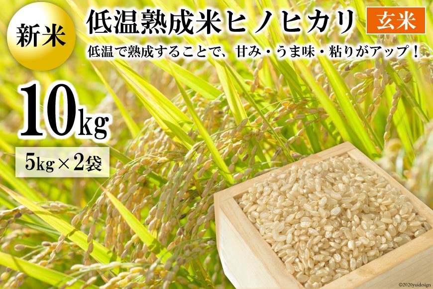BE112【新米】低温熟成米(ヒノヒカリ・玄米) 10kg(米袋×2袋)