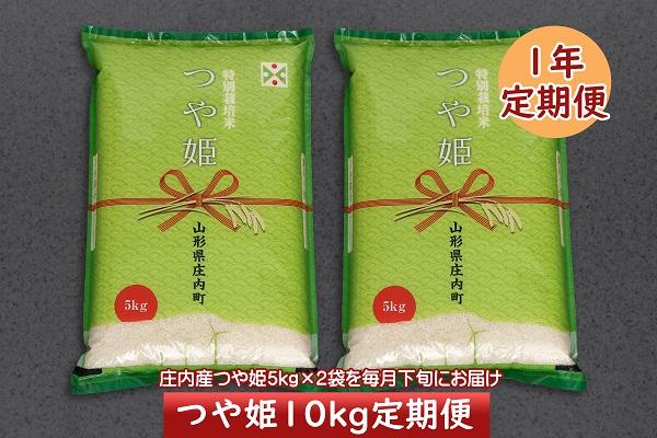 <3月開始>庄内米1年定期便!つや姫10kg(入金期限:2021.2.25)