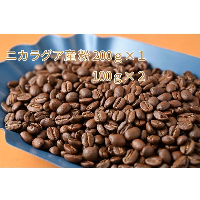 C-4 カフェ・フランドル厳選コーヒー豆 ニカラグア産(200g×1 100g×2)挽いた豆