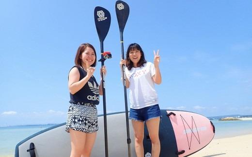 ハレタオーシャンサポートで初めてのSUPにチャレンジ【SUP体験コース】2名様