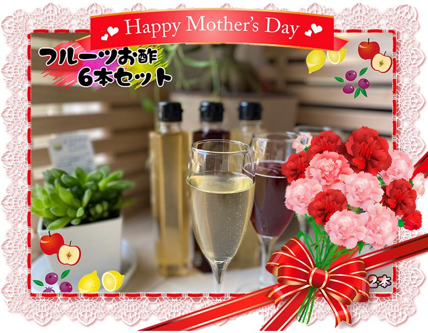 EW004_【母の日企画:5/9までにお届け】家族で飲めるフルーツ酢 3種×各2本 計6セット