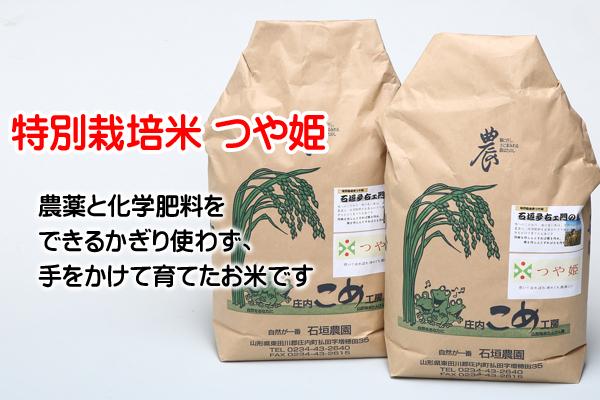石垣農園の特別栽培米つや姫10kg