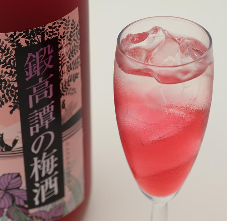 鍛高譚(たんたかたん)の梅酒[1800ml]【4本セット】
