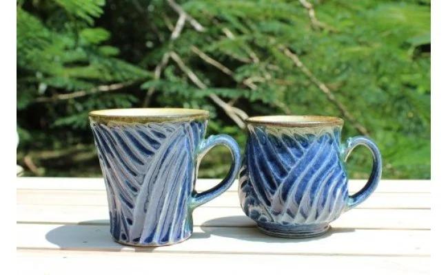 涌井陶芸 マグカップ(ルリ釉)