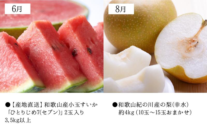 ZD61-T02_【定期便 6回】湯浅町旬のフルーツバスケット(隔月お届け)