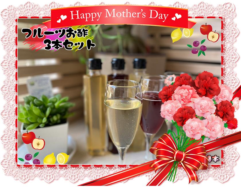 EW003_【母の日企画:5/9までにお届け】家族で飲めるフルーツ酢 3種×各1本 計3セット