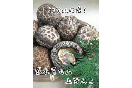 【2609-0086】【被災地応援】肉厚・厳選!原木育ちの上どんこ160g