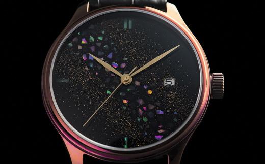T69-01 【世界に1本の腕時計 漆】ドリームウォッチ 輪島螺鈿・色替えケース
