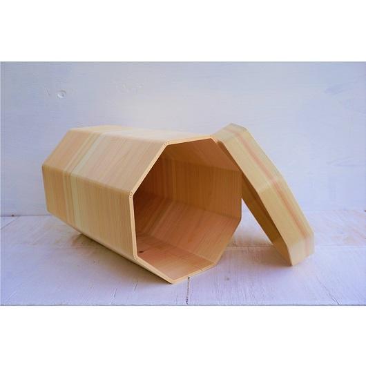 ⑩MORITOブランド 八宝<ヒノキのマルチボックス蓋付き 伝統の挽曲げ仕上げ>