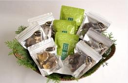 松田町寄(やどりき)佐藤さんのきのことお茶のふるさとセット!(干しシイタケ&乾燥きくらげ&緑茶)