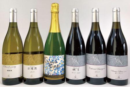 自社栽培ぶどうお薦めワイン6種《楠わいなりー》
