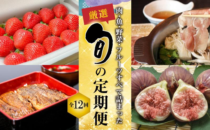 厳選!肉・魚・野菜・フルーツすべて詰まった旬の定期便(全12回お届け) H028-023