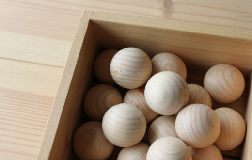 10-71 京築ヒノキのボール20個箱入