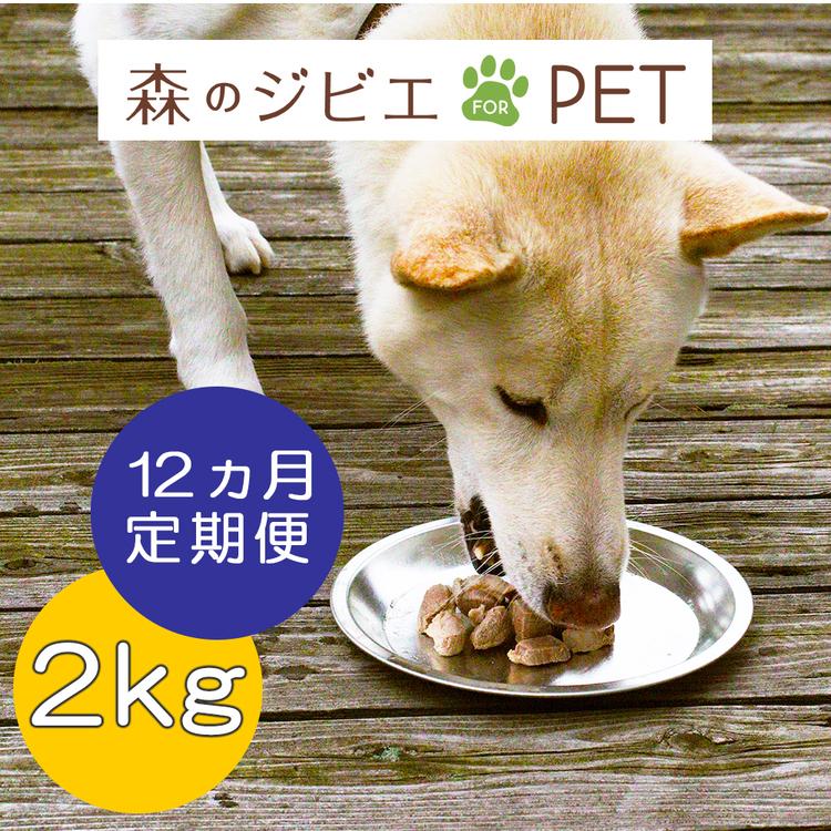 A75定期便 森のジビエ for PET 鹿肉 2kg×12