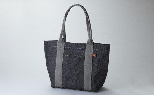 【J-155】kii工房 トートバッグ大 先染め黒[高島屋選定品]