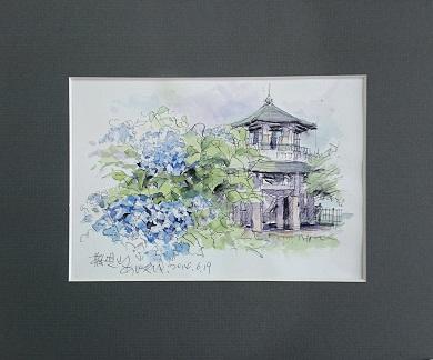 015-12秦野の四季ジクレ版画(高級複製画 窓空きマット)