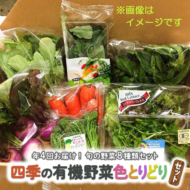 【年4回お届け!】四季の有機野菜色とりどりセット[AL001ci]
