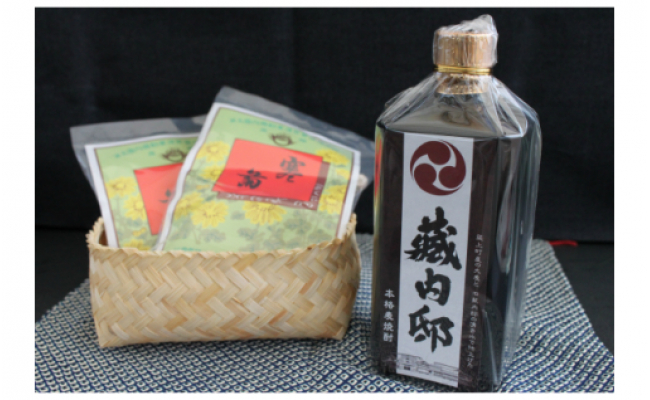 A-11 麦焼酎「藏内邸」1本とお菓子詰合せ