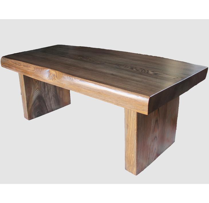 [34]座卓(テーブル)ニレ(埋もれ木)・一枚天板【厚さ約7cm】