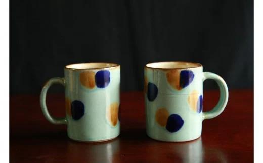 【仲間陶房】ミドルカップ(大当:うふどうブルー)ペアセット