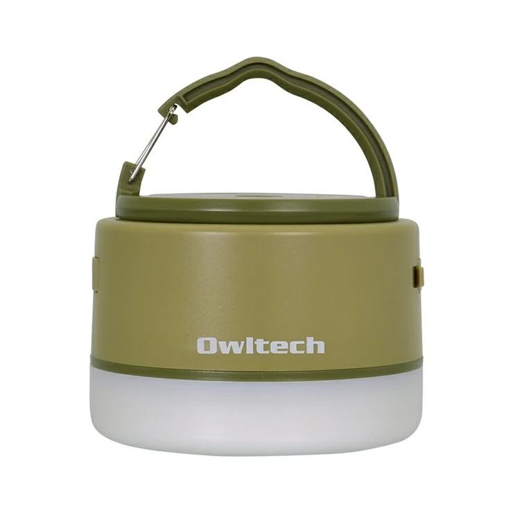 9-0070 大容量モバイルバッテリー搭載 LEDキャンピングランタン 6700mAh USB Type-A × 1ポート出力 OWL-LPB6701LA-KH