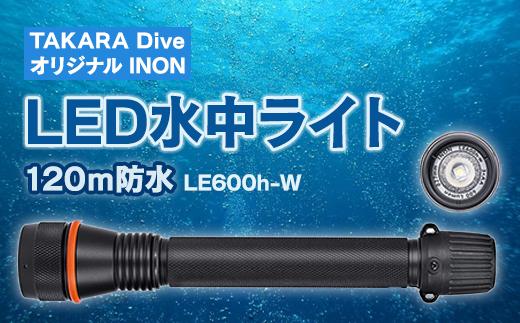 TAKARA Diveオリジナル INON LED水中ライト【120m防水】 「LE600h-W」