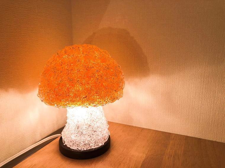 BR008_【PASTAライト】キノコ型 フロアランプ【オレンジ】
