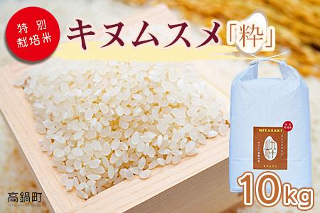<令和3年産「 特別栽培米「粋」キヌムスメ 」10kg 高鍋町産(白米)>2021年11月から12月末迄に順次出荷【c861_kh】