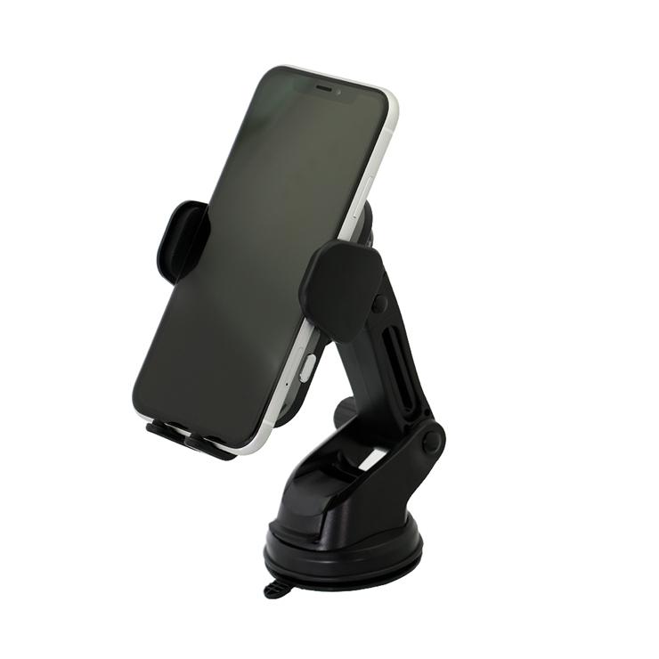 9-0101 置くだけで反応 自動式 車載ワイヤレス充電ホルダー USB Type-C入力 OWL-CHQI02-BK