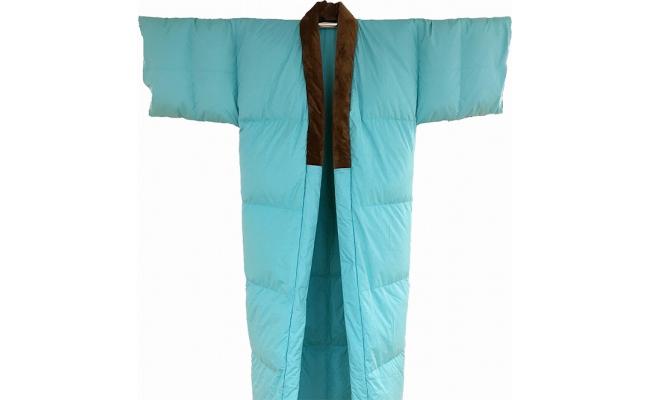 羽毛かいまき布団 羽毛布団 (ブルー)国産 日本製