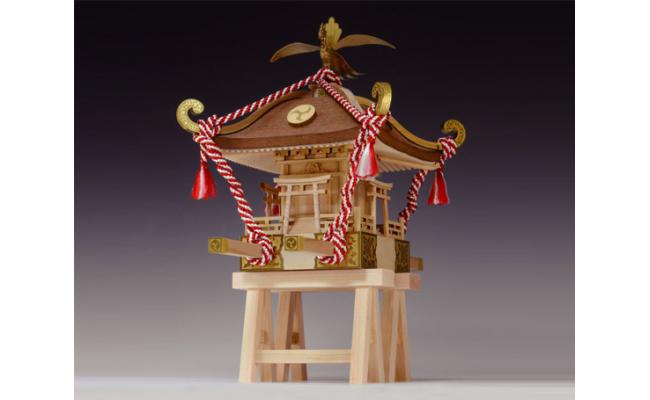 No.177 Woody JOE製 木製建築模型 1/10ミニみこし(ペイントマーカー付) / 木製キット 神輿 よつぼくん 千葉県