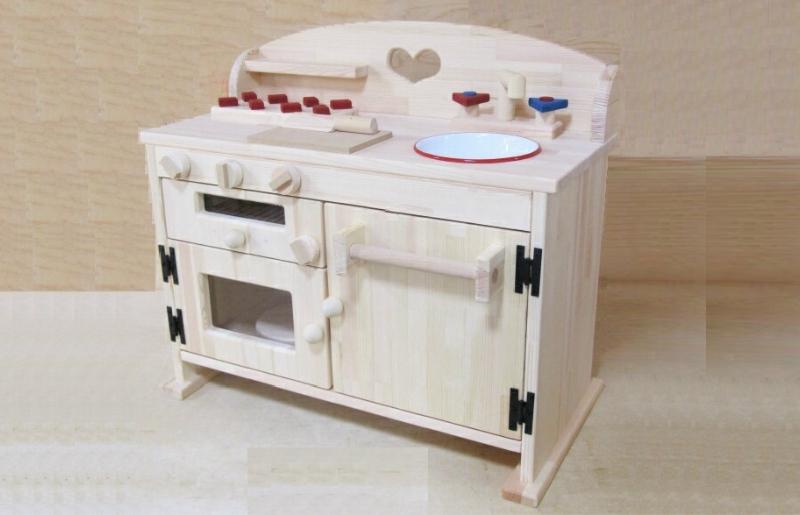 099H298 手作り木製 ままごとキッチン GHK-H