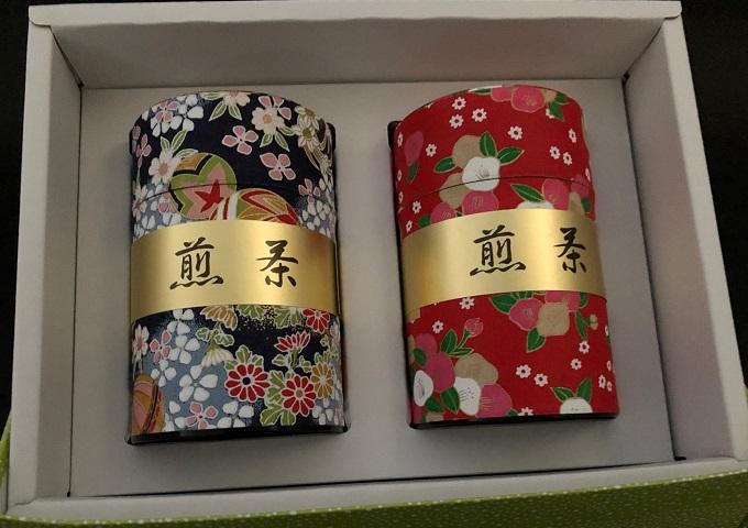 和紙缶 狭山茶(青葉)100g×2缶箱入
