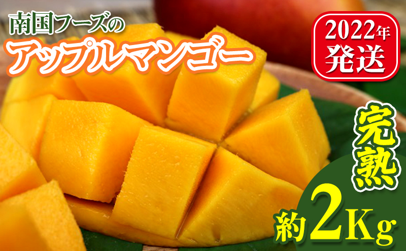【2022年発送】南国フーズの完熟アップルマンゴー 約2Kg