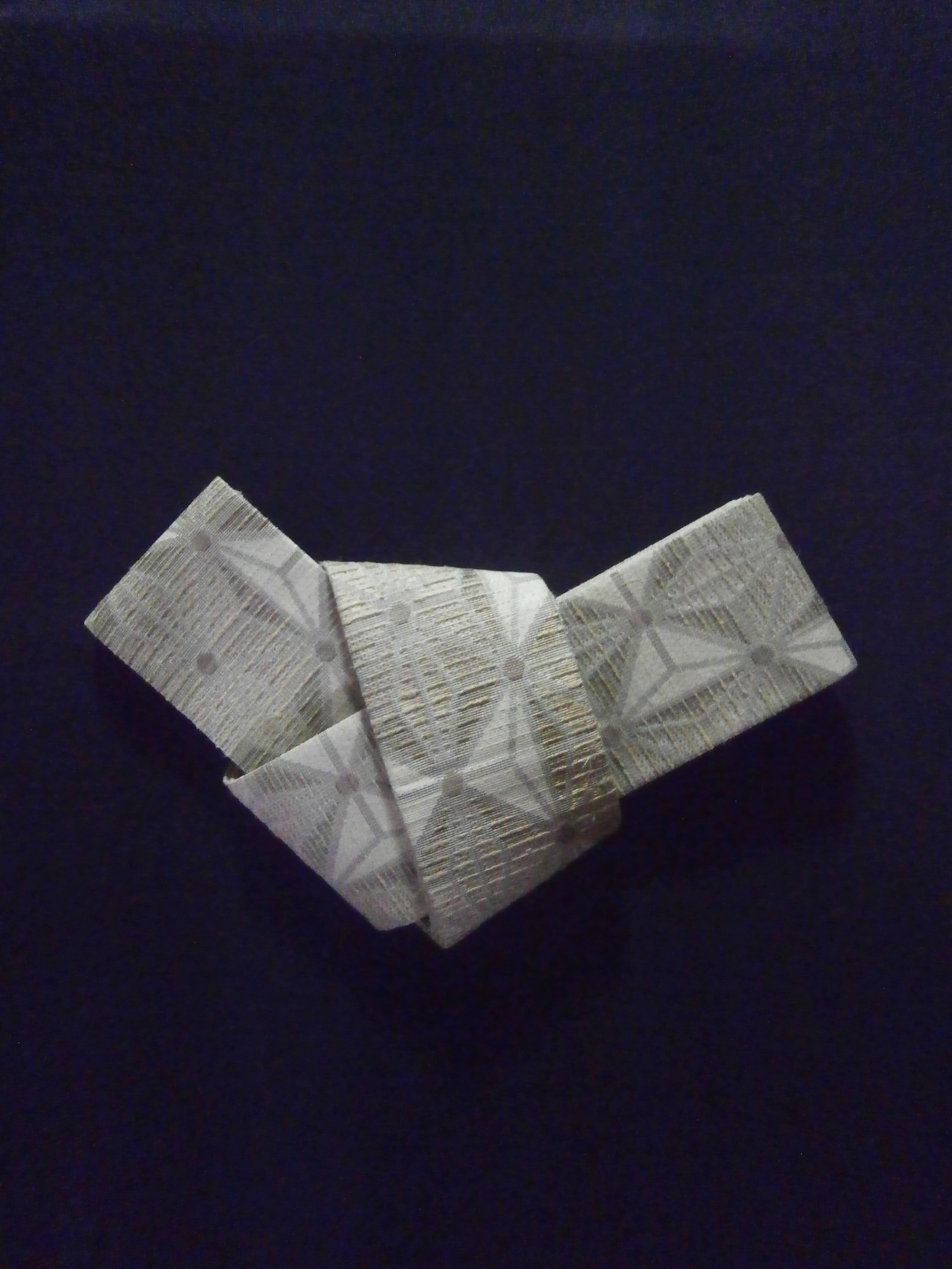丹後の藤布 角帯 「藤に麻の葉 (白)」