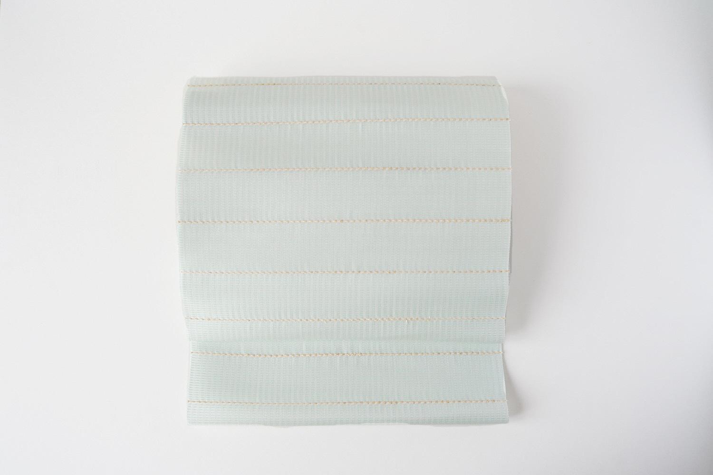 丹後の藤布 八寸名古屋帯「パール藤一文字(白緑)」  全通/平仕立て