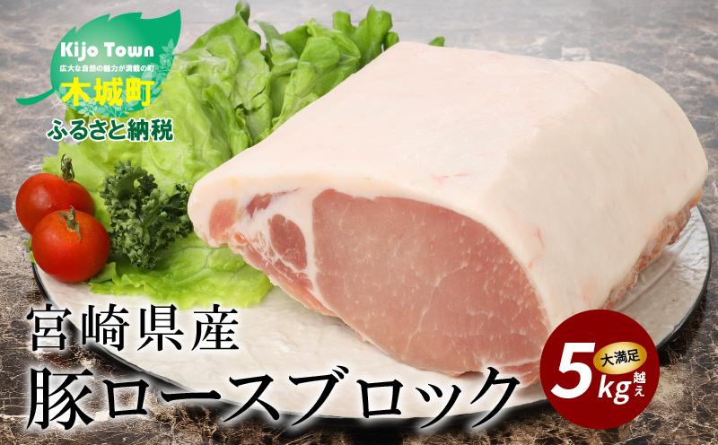 K16_0058 宮崎県産豚ロースブロック 5kg越え