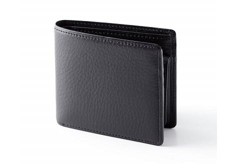 [FE-12] SOMES FE-12 2つ折財布(ブラック)