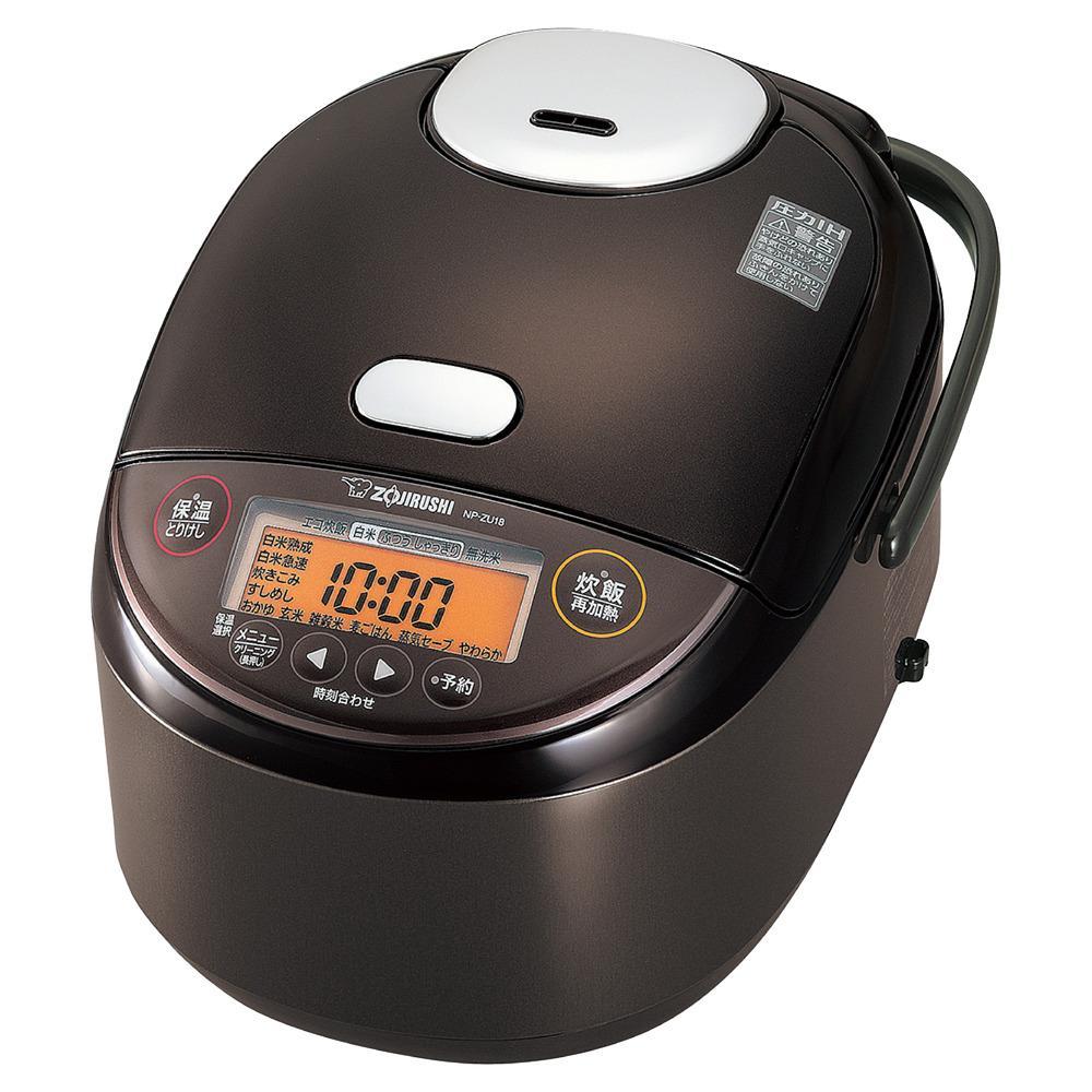象印圧力IH炊飯ジャー(炊飯器) 「極め炊き」NPZU18-TD 1升炊き ダークブラウン
