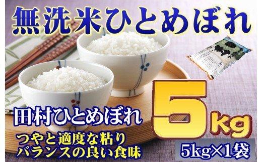 TA6-12【無洗米】福島田村産ひとめぼれ5kg【令和2年産】