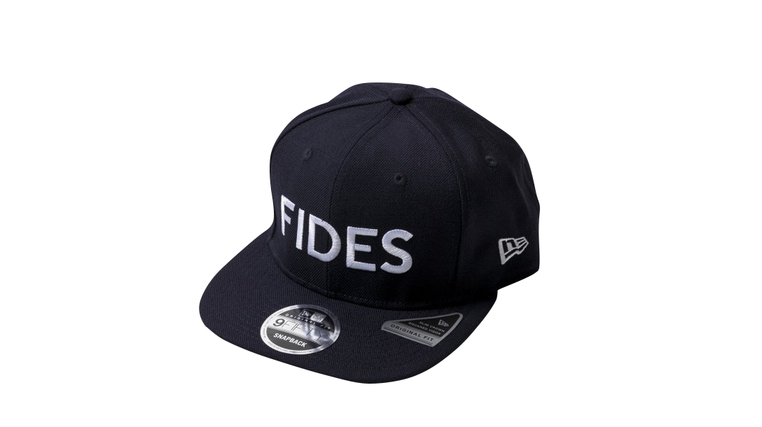 DM022_FIDES×NEW ERA CAP 9FIFTY ORIGINAL FIT FRONT LOGO(NAVY)