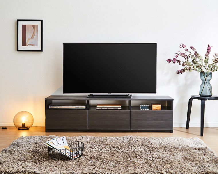 EL249_木目調 幅150 テレビボード【設置/組立て付き】ブラック[di03067-01]