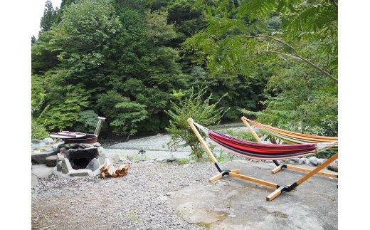 松田町のキャンプ場「蜂花苑」 フリーサイト宿泊券1名様分