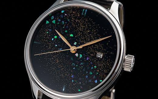 T50-01 【世界に1本の腕時計 漆】ドリームウォッチ 輪島螺鈿(わじまらでん)