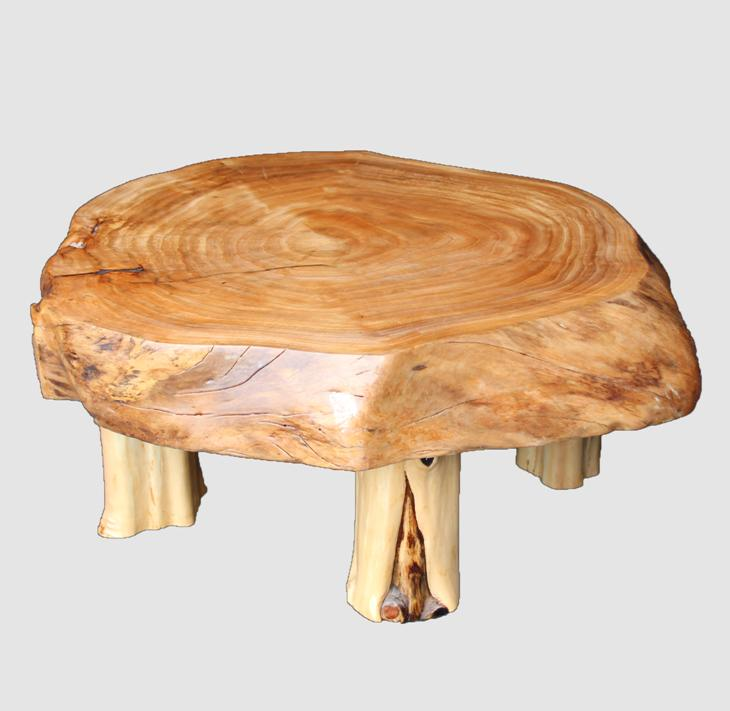 [29]座卓(テーブル)カツラ(コブ)・一枚天板【厚さ約9cm】