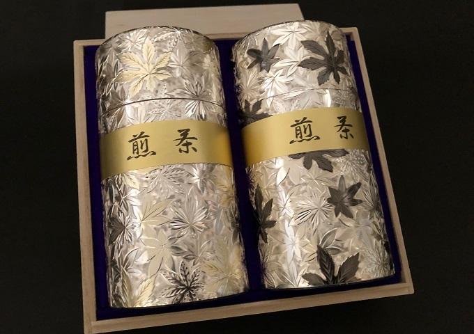 金銀彫刻缶 狭山茶(八十八夜)200g ×2缶箱入