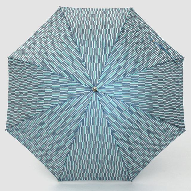 婦人長傘 ノルディックジャガード 小枝柄 ブルー
