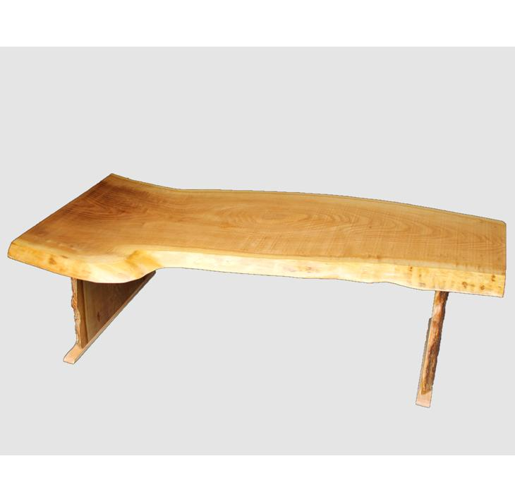 [03]座卓(テーブル)キハダ・一枚天板【厚さ約3cm 7kg】