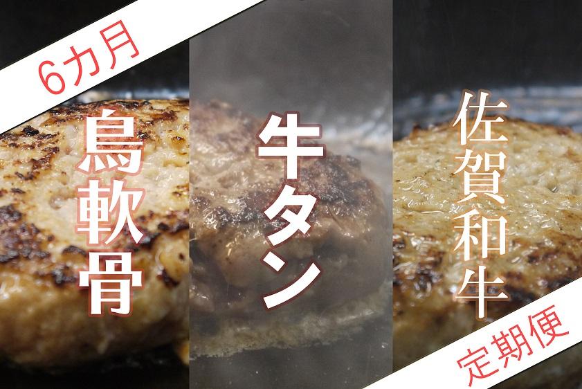 DI027_【6か月定期便】佐賀県の魅力が詰まったハンバーグ定期便